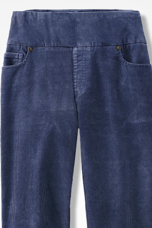 Pinwale Pull-On Stretch Corduroys, Ranch Blue, large