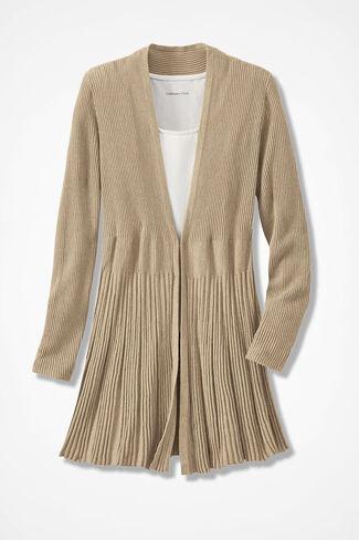Misty Mountain Cardigan Sweater, Light Camel Heather, large