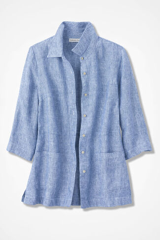 19896052 Easy Linen Shirt Jacket