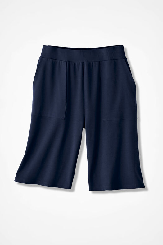 Essential Supima® Shorts, Navy, large