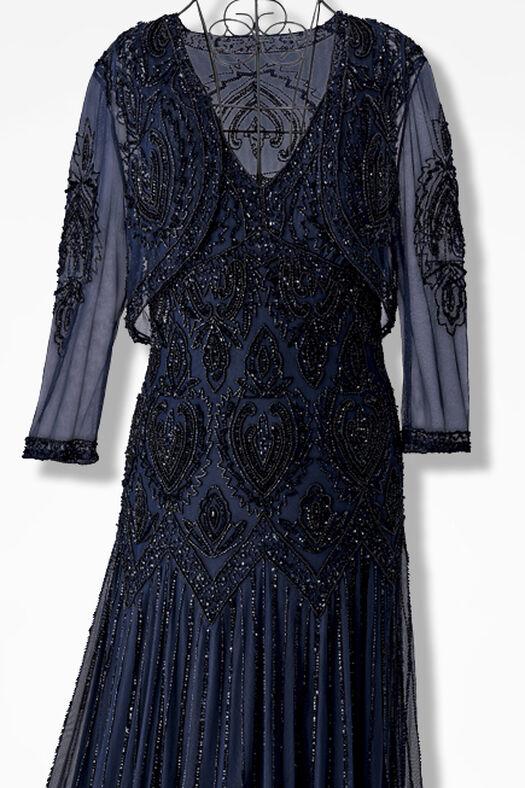 c44b511f6082 Nocturne Beaded Bolero Dress by Pisarro Nights - Coldwater Creek