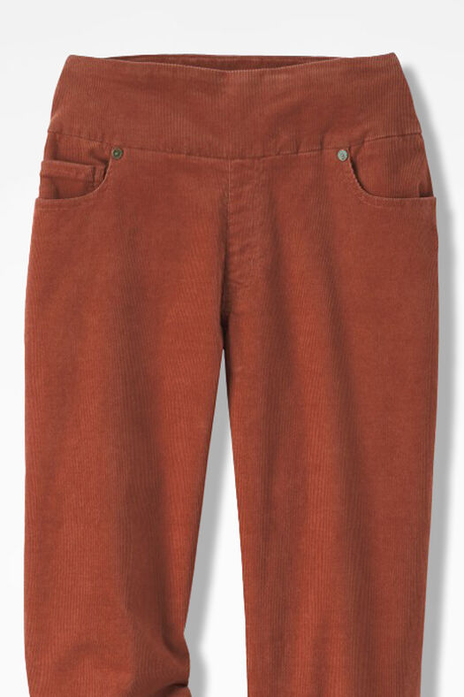 Pinwale Pull-On Stretch Corduroys, Rust, large