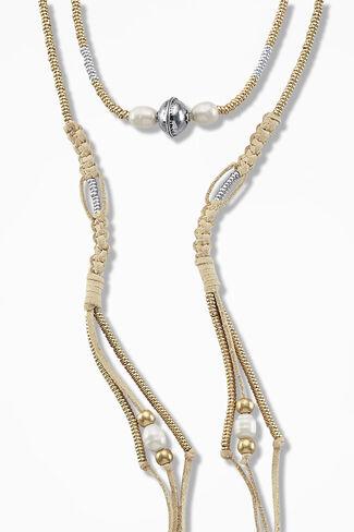 Wanderer Wrap Necklace, Alabaster, large