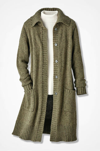Winter Mix Duster, Loden, large