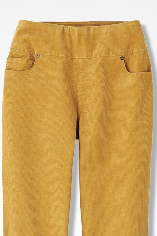 Pinwale Pull-On Stretch Corduroys, Honey, large