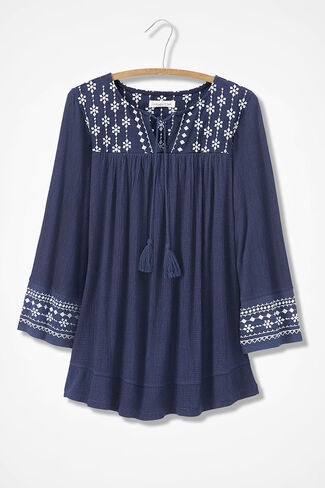 00fd535dba553 Out to Market Embroidered Top