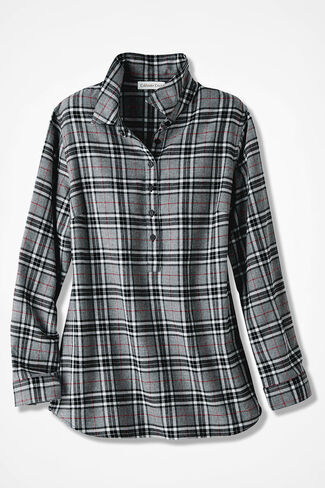 Celebration Plaid Popover, Grey, large