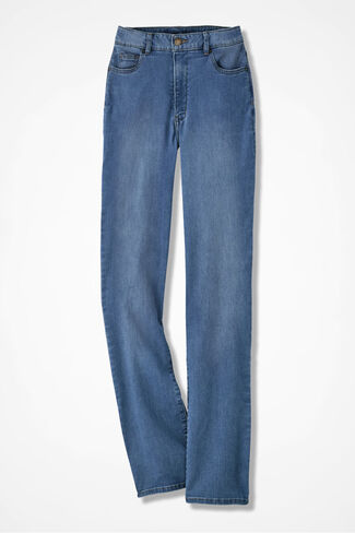 The Creek® ShapeMe® Relaxed Straight-Leg Jean, Light Wash, large