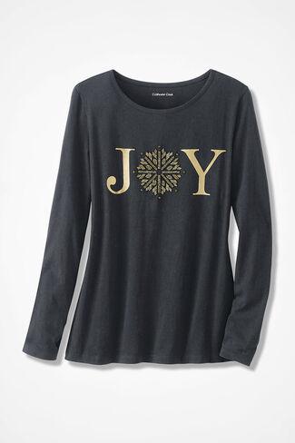 Spread the Joy Holiday Tee, Black, large