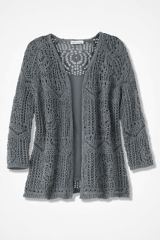 Open Crochet Cardigan Womens Sweaters Coldwater Creek