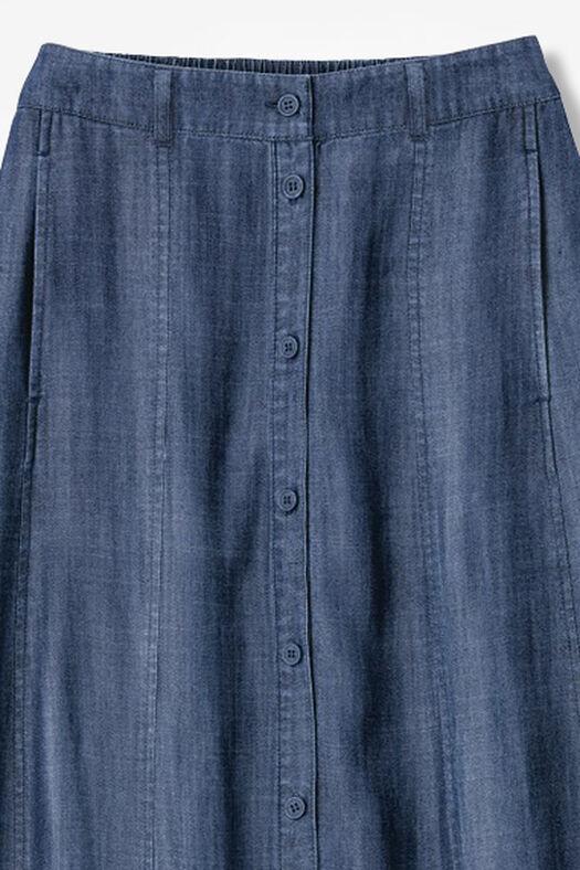 7a83d153e1e Button-Front Tencel® Maxi Skirt