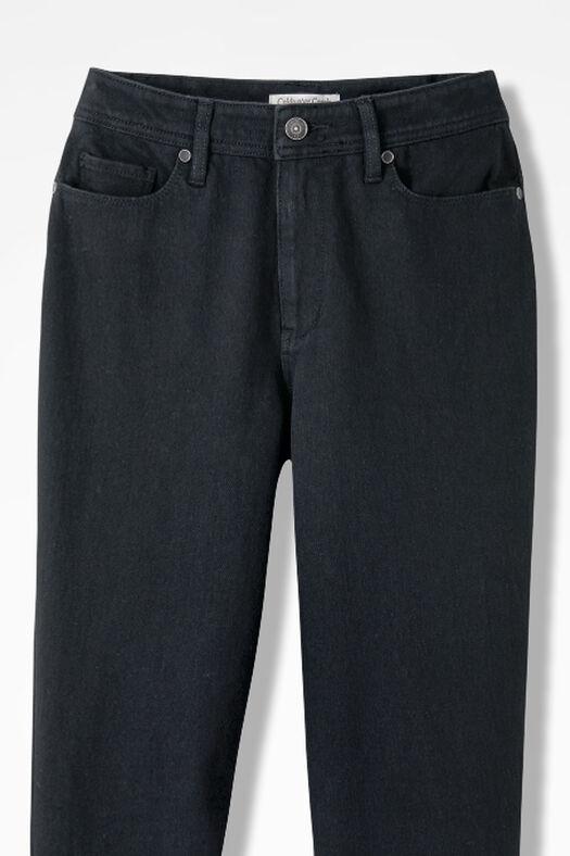 Knit Denim Bootcut Jeans, Pitch Black Wash, large