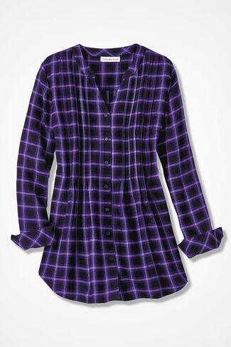 Purple Plaid Tunic, Dark Purple Multi, large