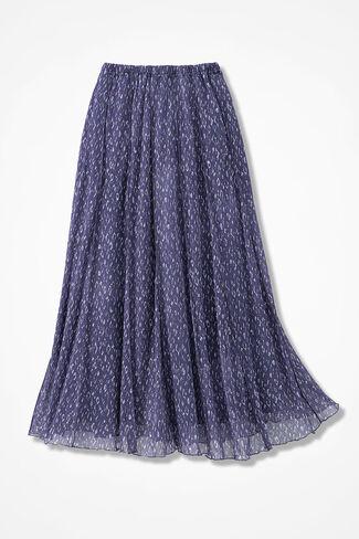 Pebble Dots Mesh Knit Skirt, Deep Thistle, large