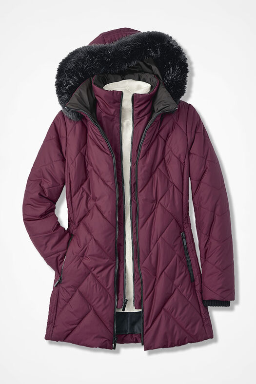 Mountain High Quilted Coat Coldwater Creek