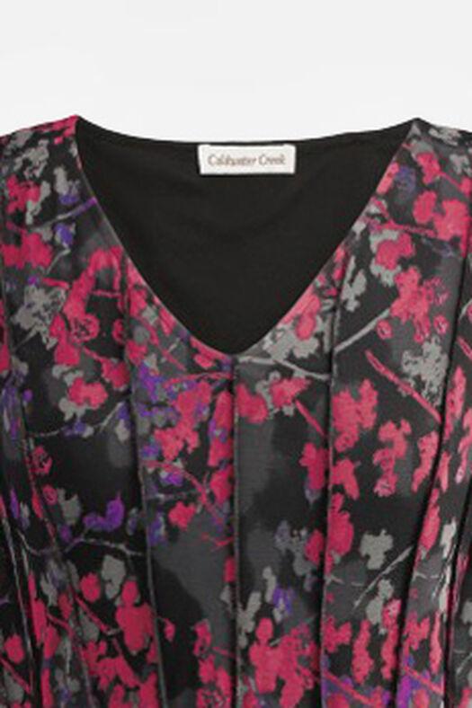 Winterberry Mesh Knit Dress, Black Multi, large