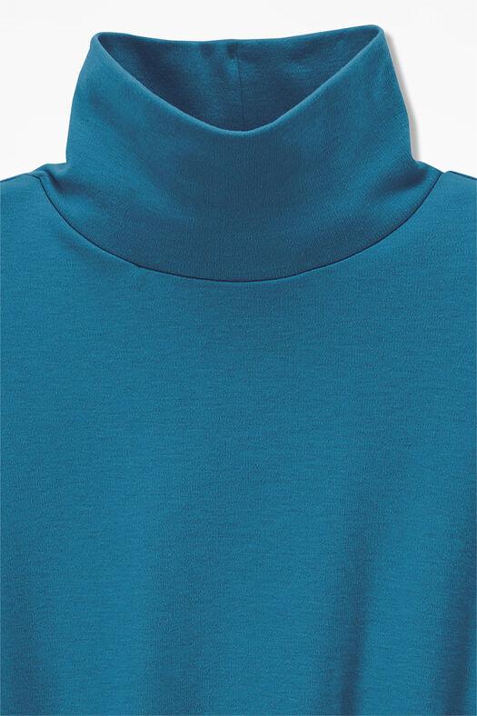 Essential Supima® Stand-Neck Tee, Mallard Blue, large