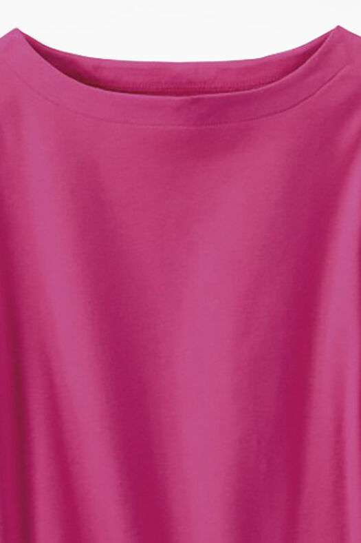 Essential Supima® Boatneck Tee, Bright Pink, large