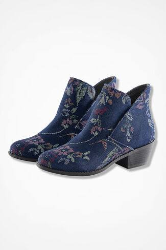 """Zena"" Suede Boots by Adam Tucker, Denim Tapestry, large"
