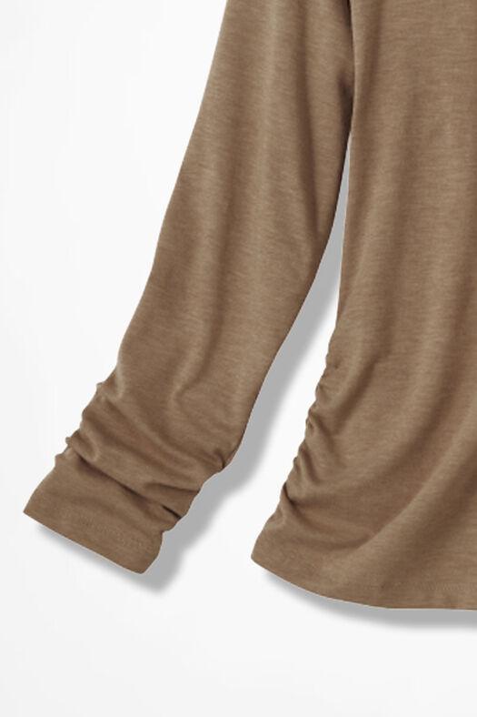PrimaKnit® Turtleneck, Light Camel Heather, large