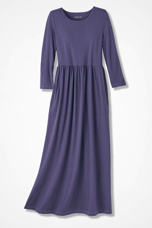 Supima® Maxi Dress, Deep Thistle, large