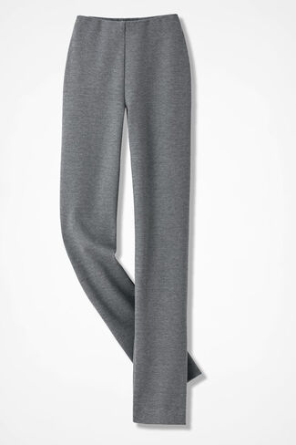 Ponte Perfect® Holly Pants, Mid Heather Grey, large