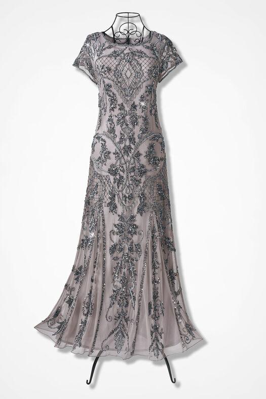 14df675b75d3a Enchantée Beaded Dress by Pisarro Nights - Coldwater Creek