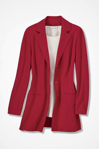 New Ponte Perfect® Boyfriend Jacket, Fresh Red, large