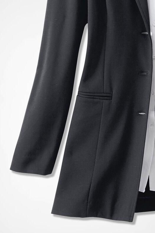 New Ponte Perfect® Boyfriend Jacket, Black, large