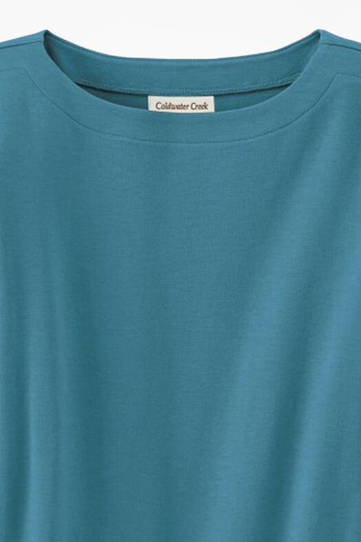 Essential Supima® Boatneck Tee, Cerulean, large