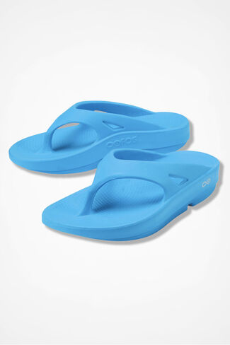 OOFOS® Original Thongs, Bermuda Blue, large