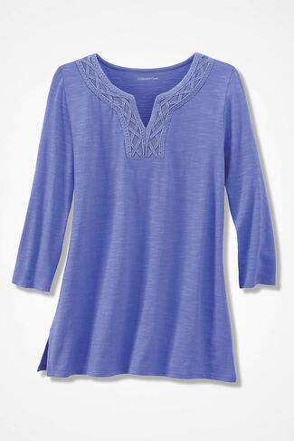 Split-Neck Casbah Tunic, Perfect Peri, large