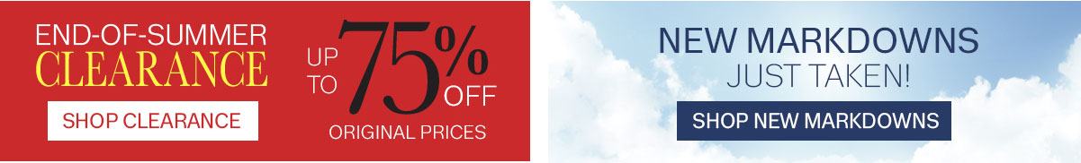 shop clearance and new markdowns