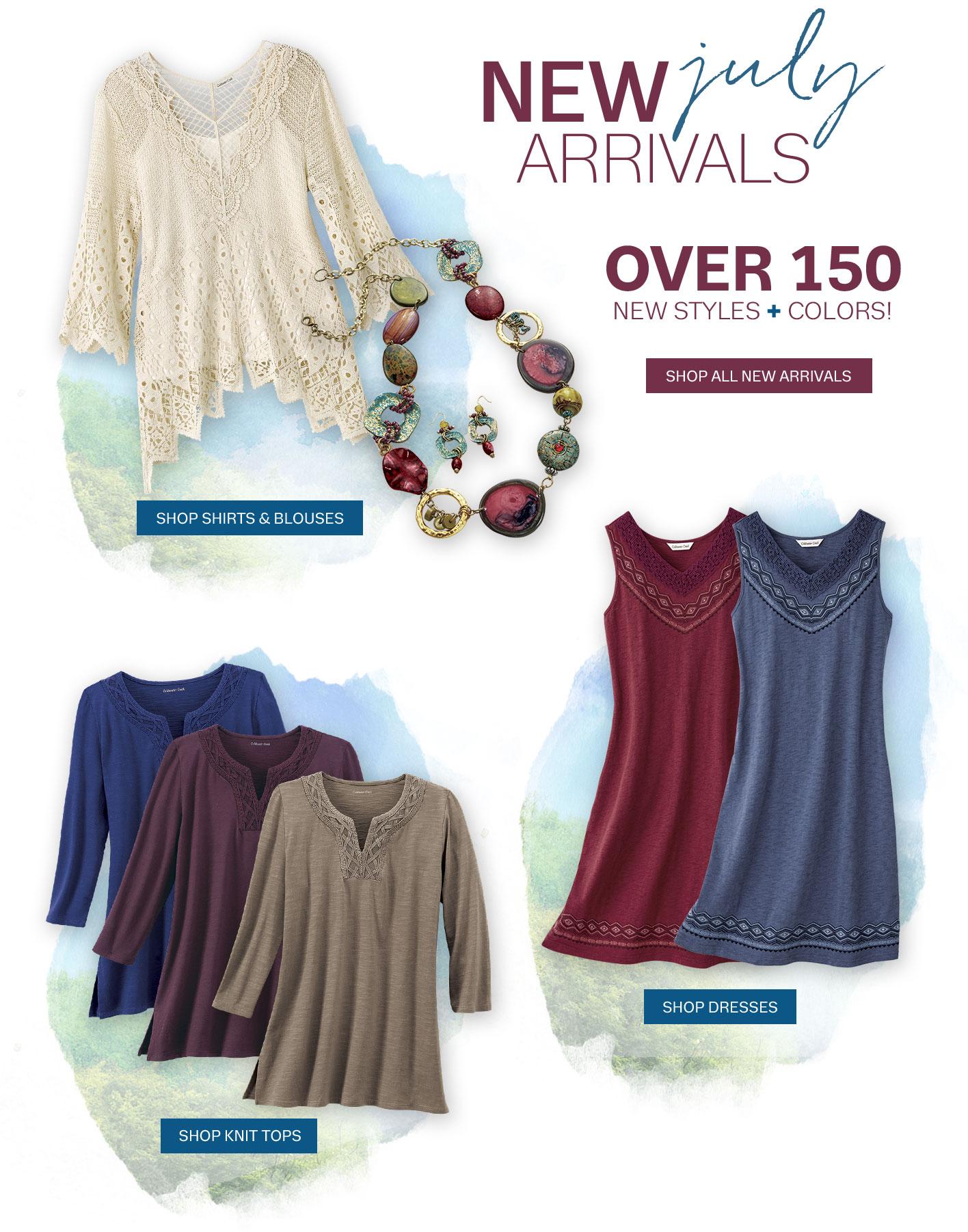 new arrivals shirts knit tops dresses