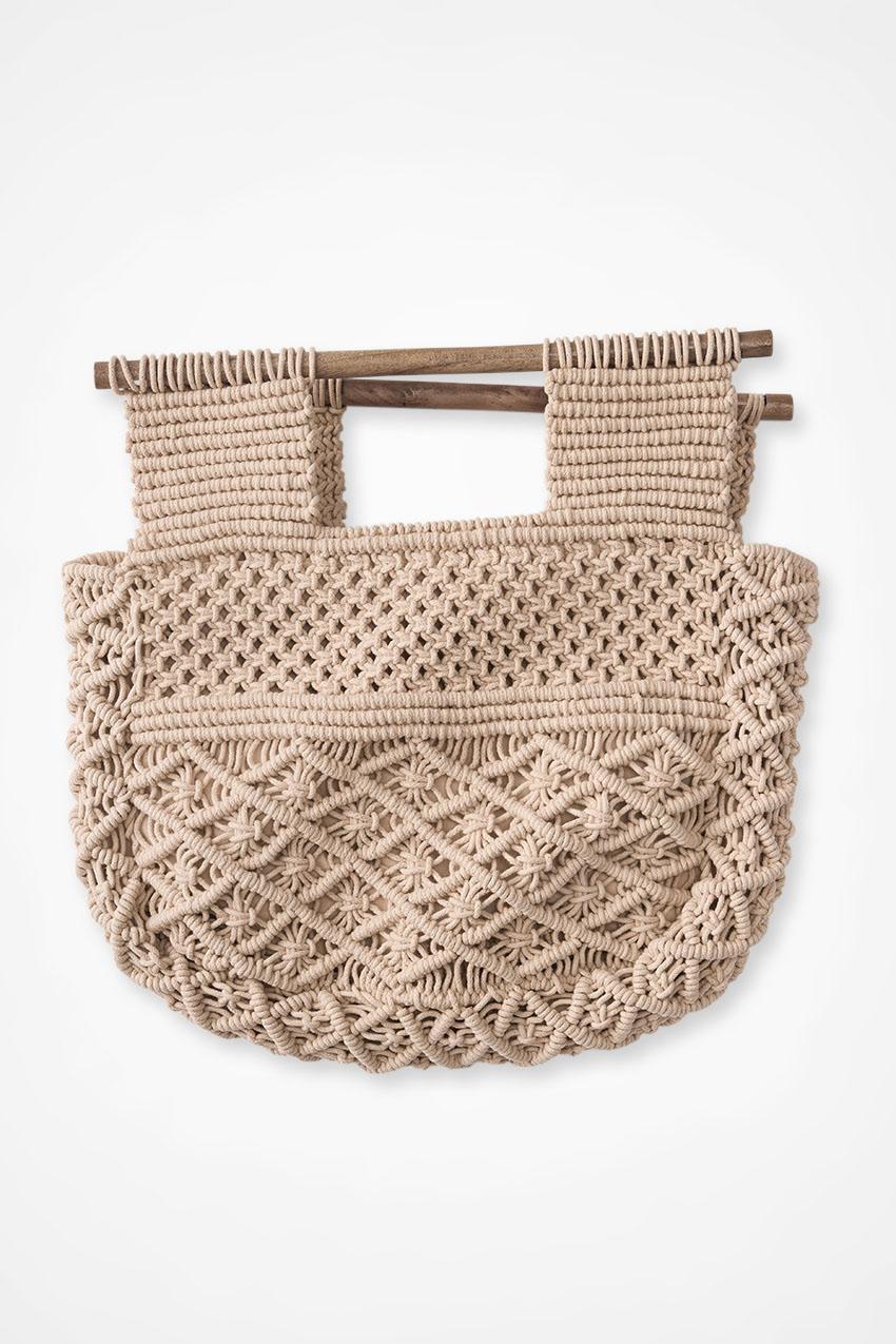 Vintage Handbags, Purses, Bags *New* Coldwater Creek Delicately Detailed Macramé Bag in Blush Size ONE $19.97 AT vintagedancer.com