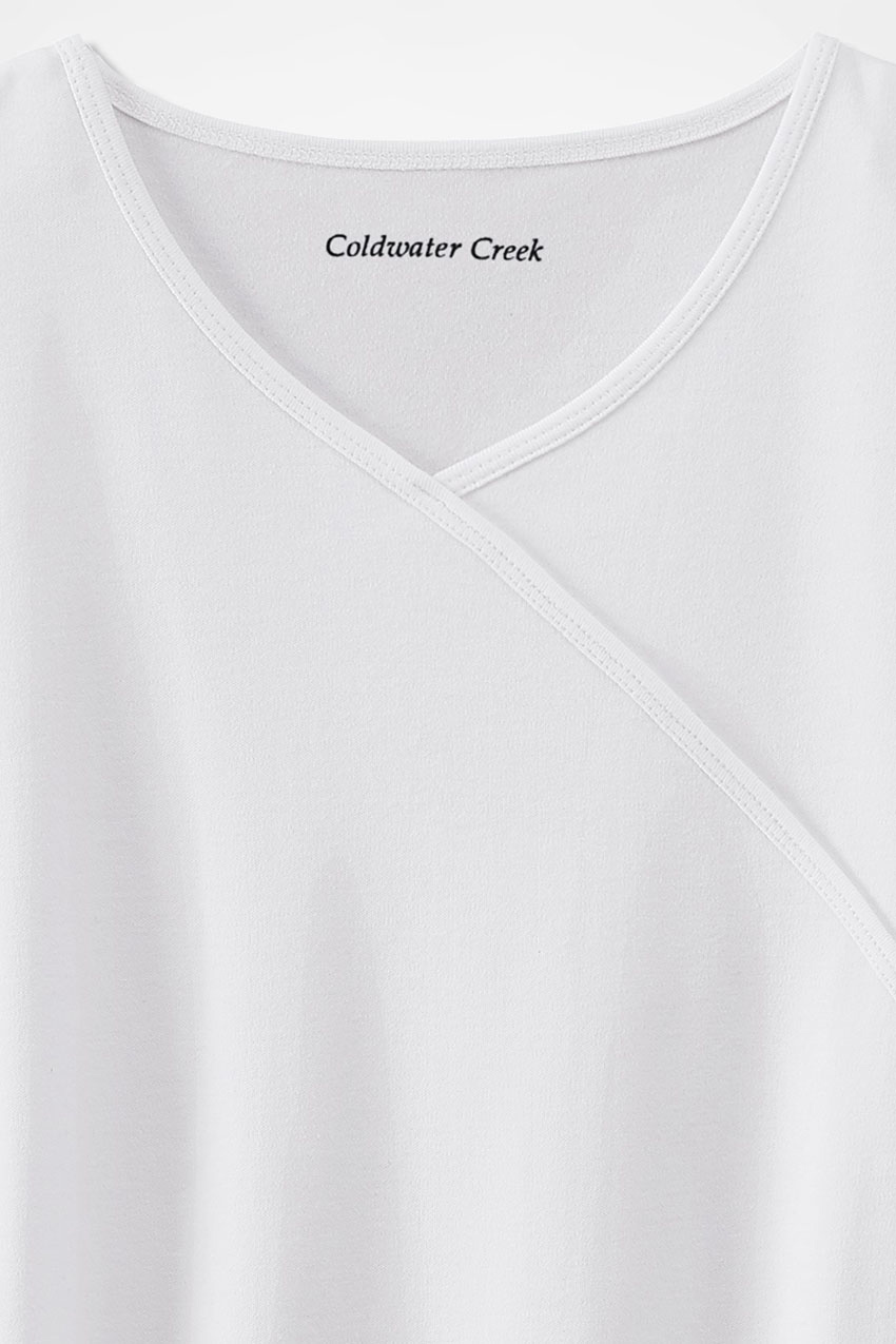 0bab877491 BestCotton™ Faux Wrap Tee - Coldwater Creek