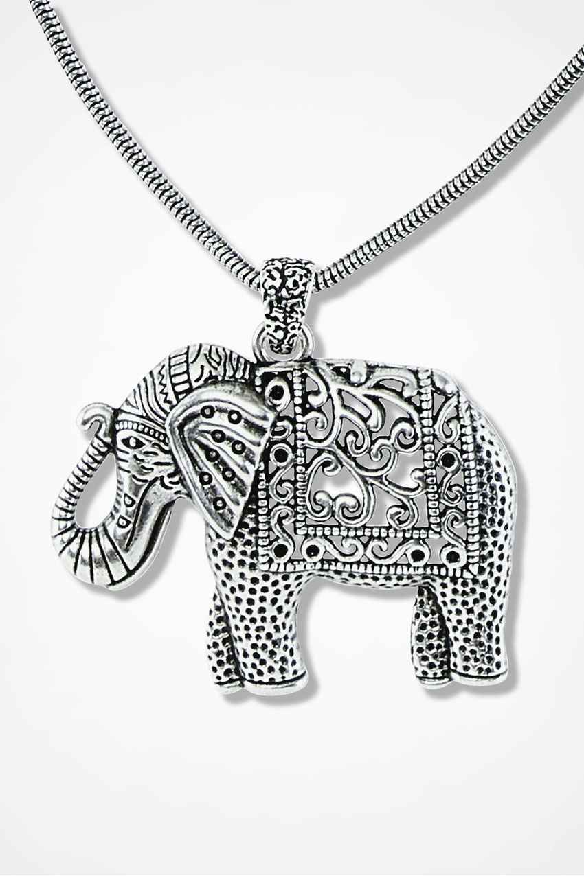 necklace elephant pendant dotoly large silver products in animal