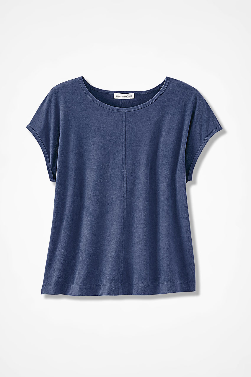 7a3f60bd1e8 Suede-Touch Stretch Tee - Coldwater Creek