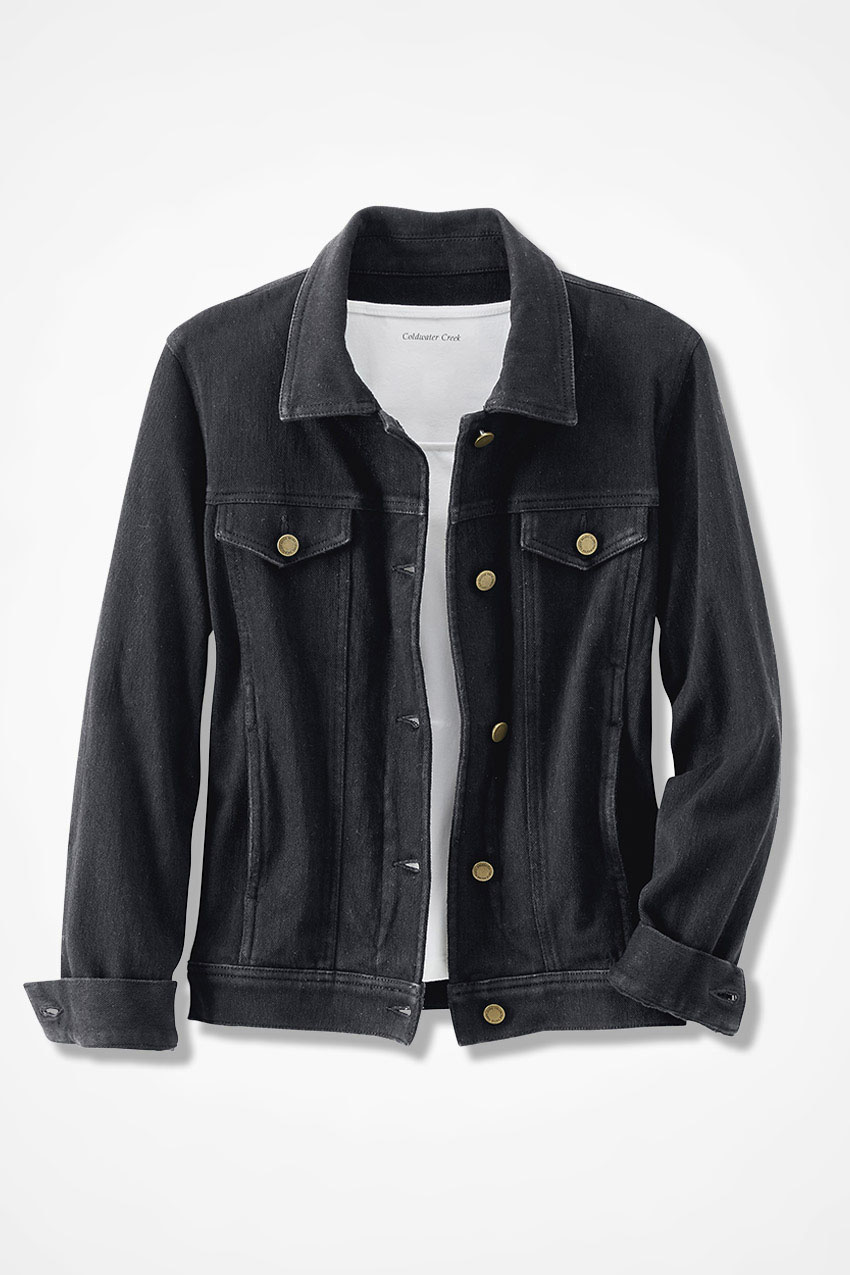 Knit Denim Jacket Coldwater Creek