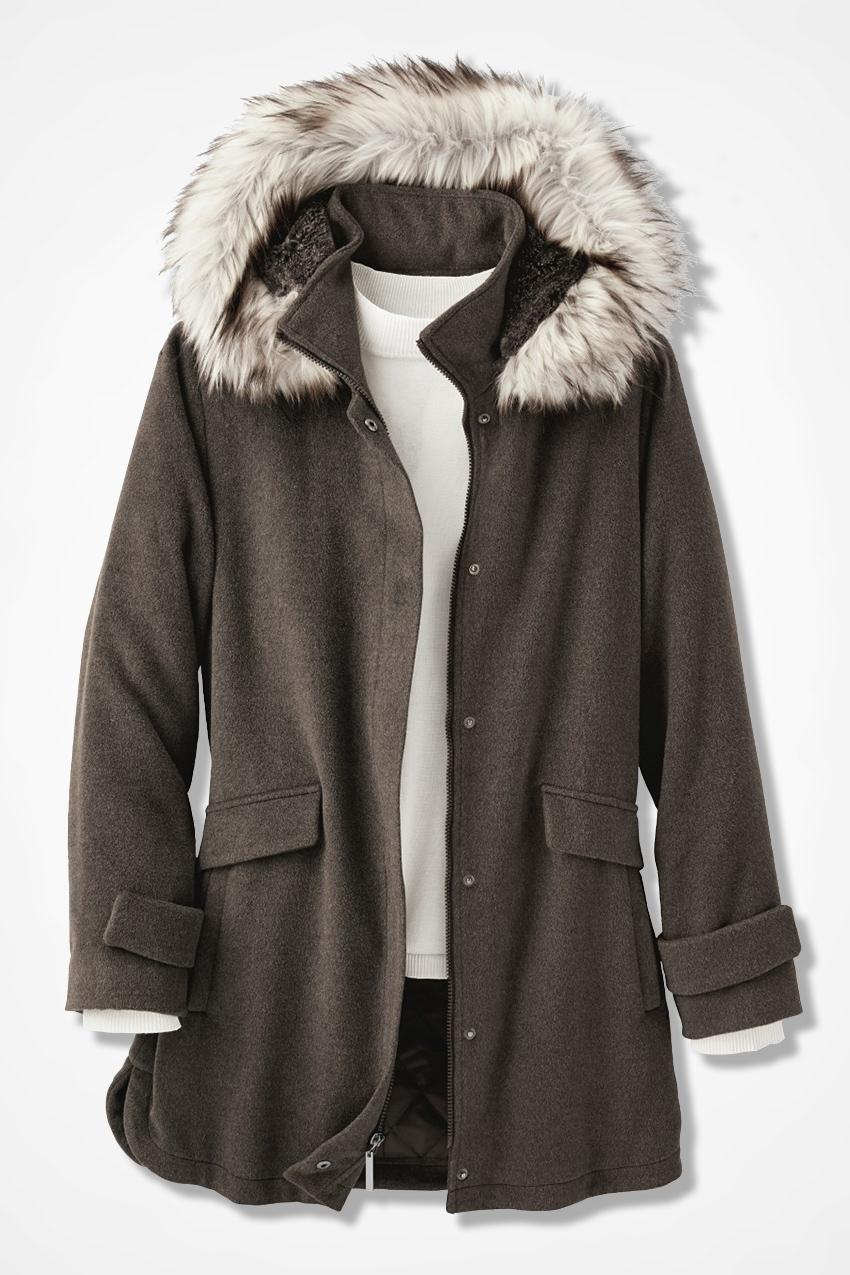 Purely Plush Hooded Fleece Coat - Coldwater Creek