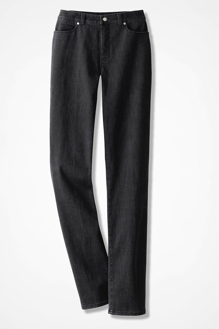 ed06c8a32c959 The Creek® ShapeMe® Relaxed Straight-Leg Jeans, Black, large. Tall Sizes