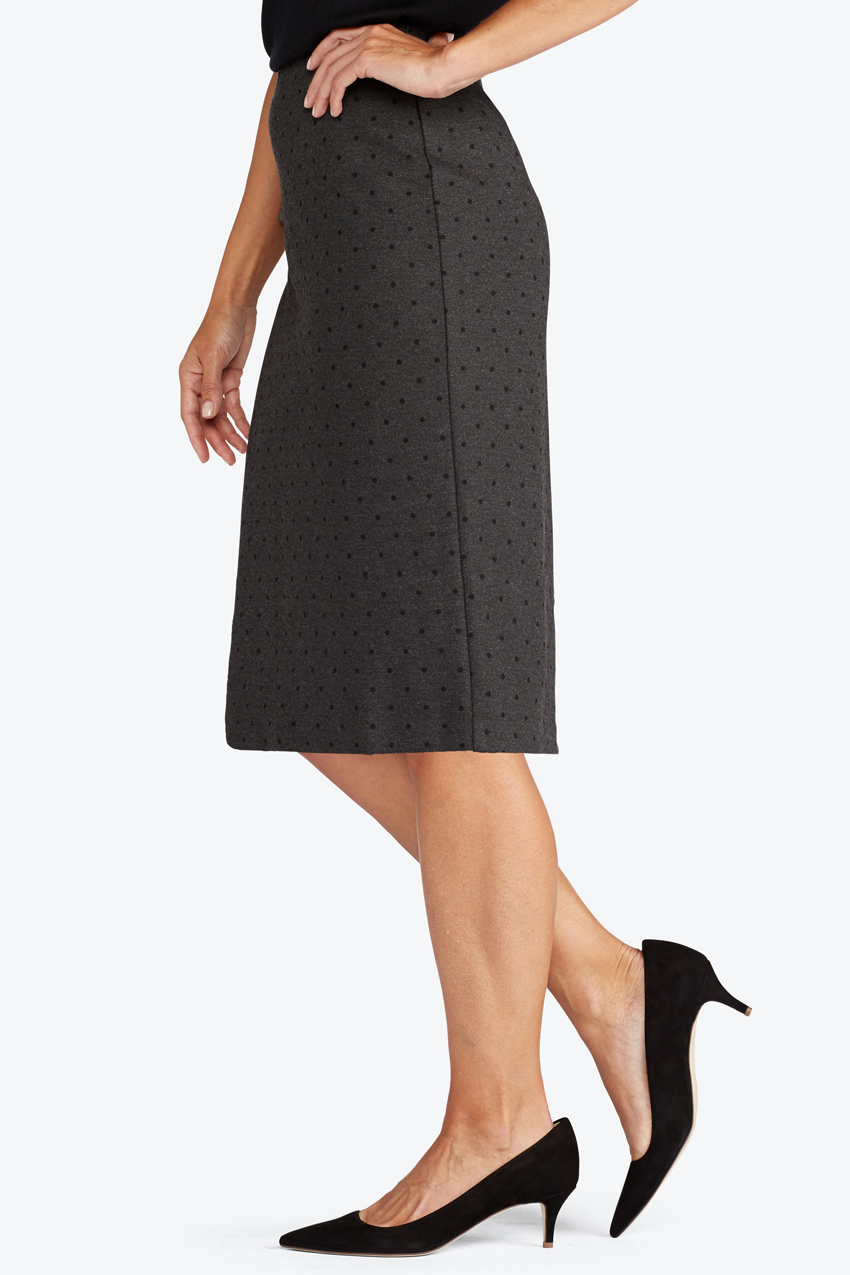 f8cc68d6d0 Ponte Perfect Dot Pencil Skirt - Women's Skirts | Coldwater Creek