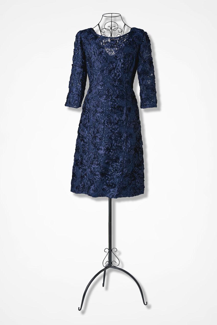 Rosette Romance Dress by Alex Evenings - Coldwater Creek