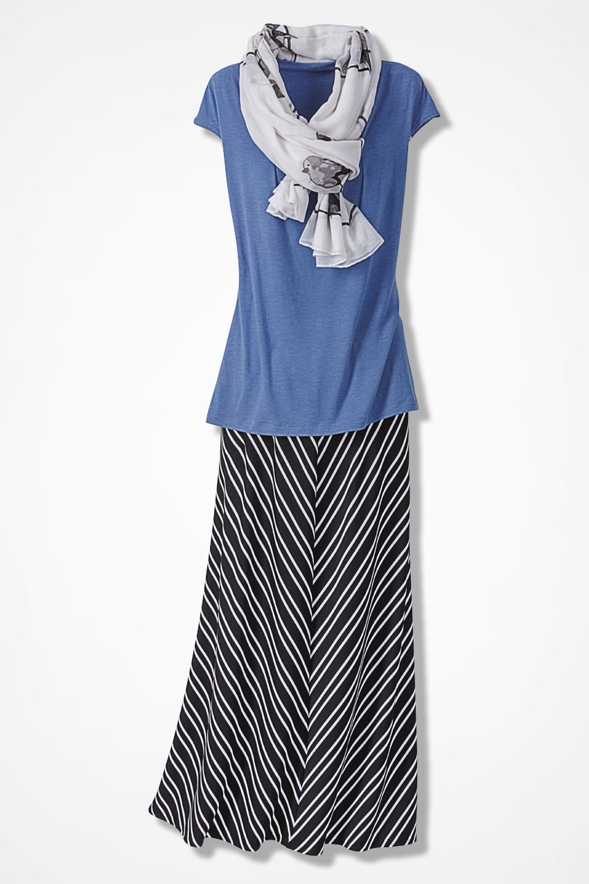 Buy Maxi chevron skirts cheap picture trends