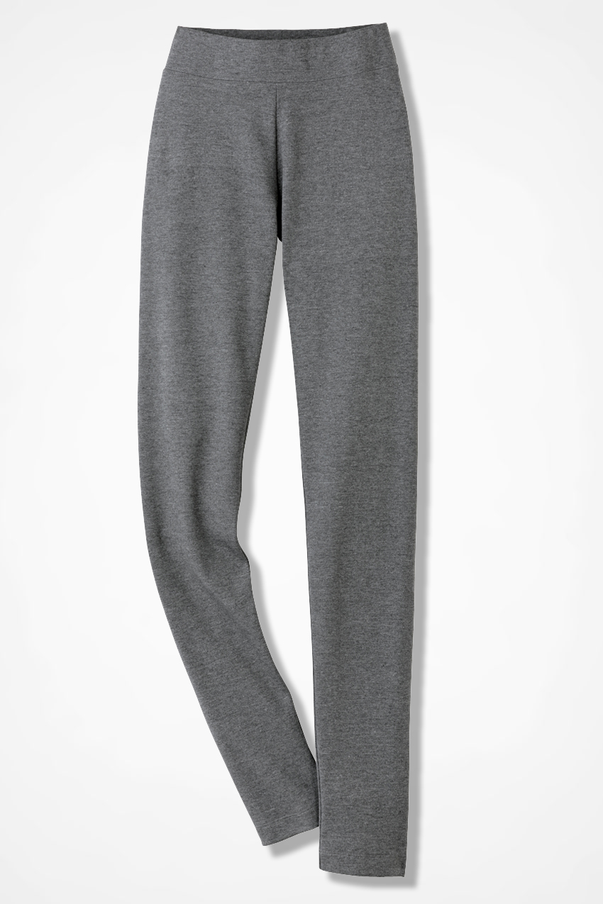 867cdc6b522e36 Essential Supima® Leggings, Mid Heather Grey, large. Tall Sizes