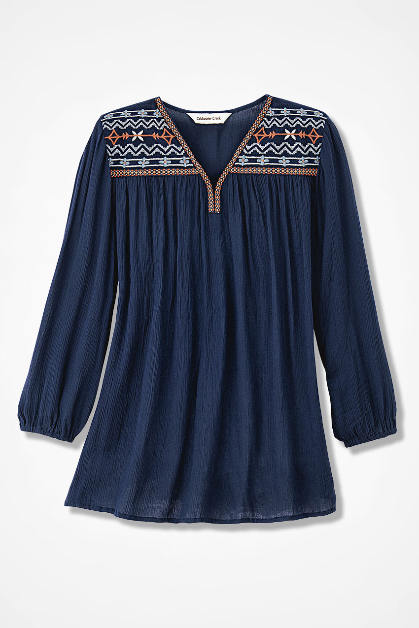 3c1778f5 Cimarron Embroidered Blouse - Coldwater Creek
