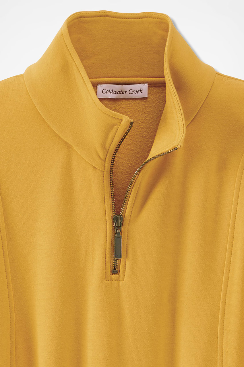 efbf74b783 Superbly Soft Fleece Zip-Neck Pullover - Coldwater Creek