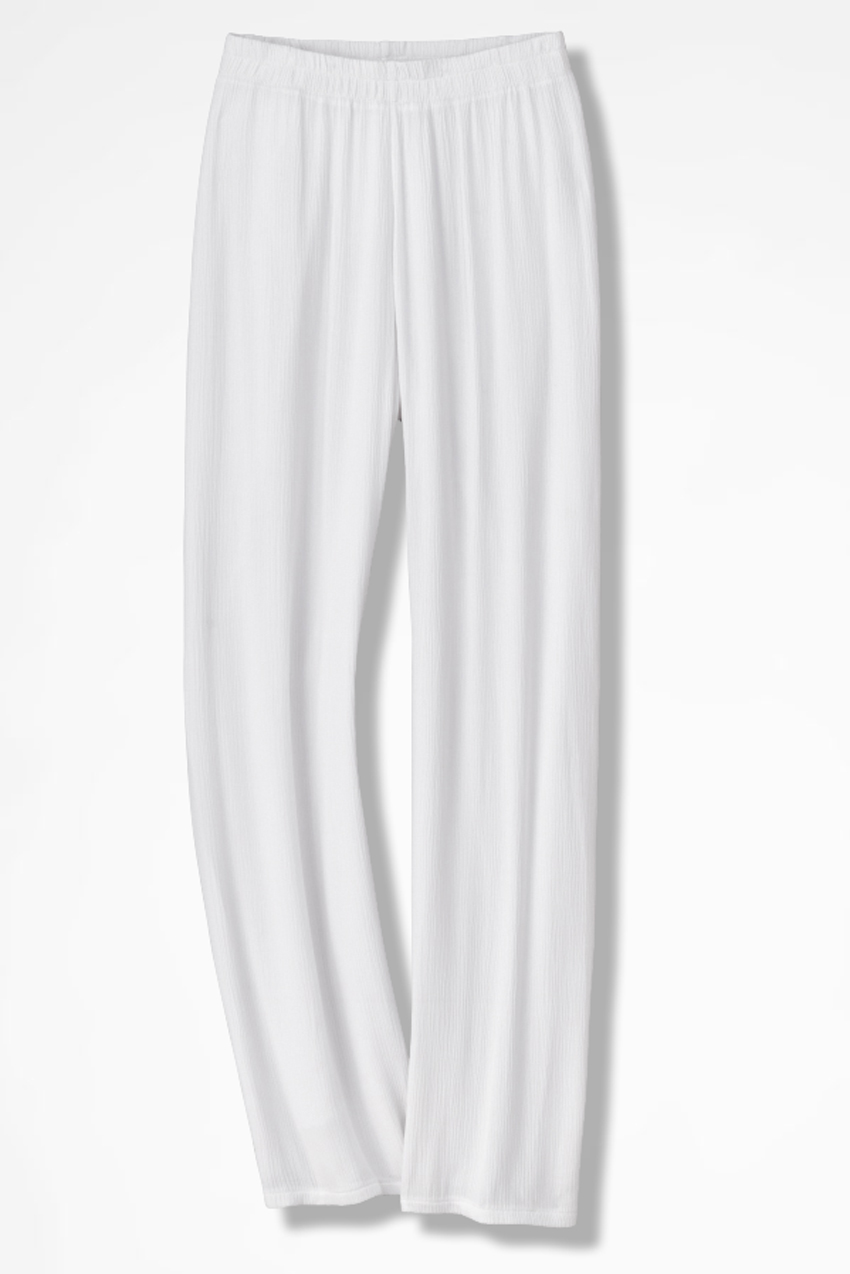 White Beach Stroll Gauze Pants - Coldwater Creek