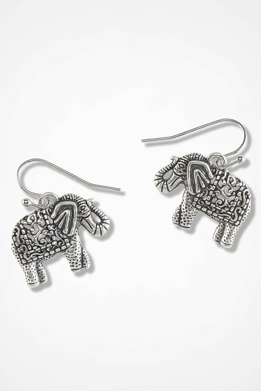 diamonique qvc page sterling tova elephant com product stud for earrings