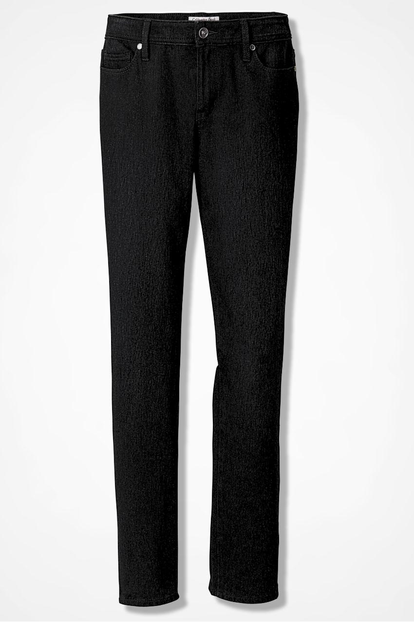 Natural Knit Denim Slim Leg - Women's Denim   Coldwater Creek